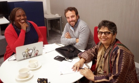 On Think Tanks regional editors: Ruthpearl Ng'ang'a, Leandro Echt and Annapoorna Ravichander.
